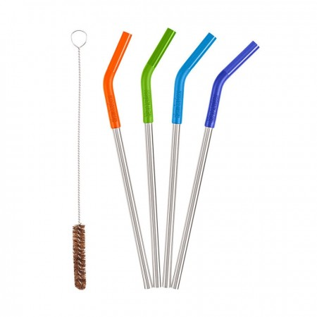 Klean Kanteen Straws 4 Pack Rainbow