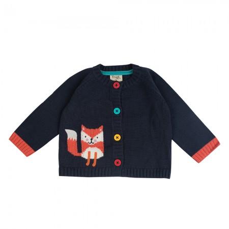 Frugi Little Happy Day Fox Cardigan