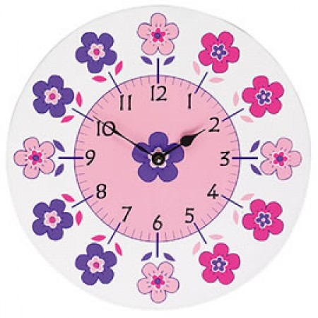 Fair Trade Flowers Clock