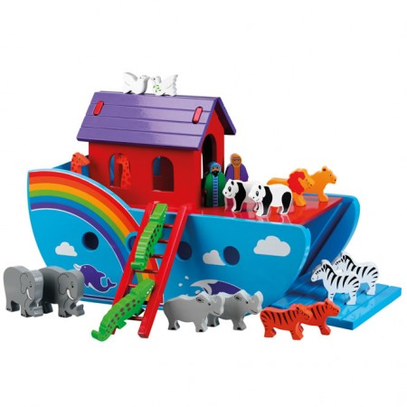 Painted Rainbow Noah's Ark