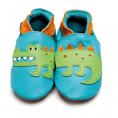 Inch Blue Crocodile Turquoise Tangerine Shoes