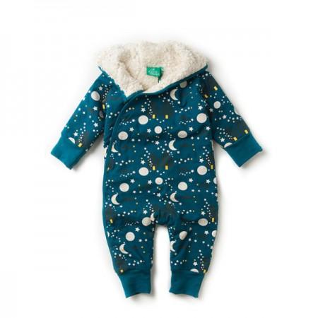 LGR Moon and Stars Sherpa Fleece Snowsuit