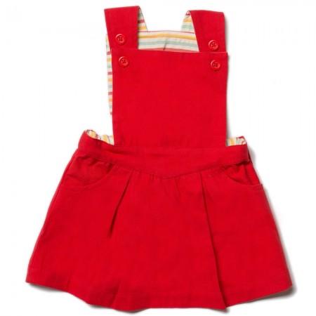 LGR Red Pinafore Dress