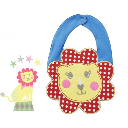 Piccalilly Retro Circus Lion Bib