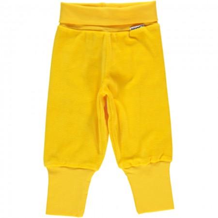 Maxomorra Yellow Velour Rib Pants