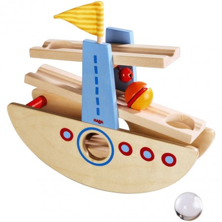 Haba Marble Slide Seesawing Boat