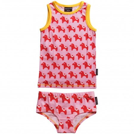 Maxomorra Dalahorse Organic Vest and Knickers