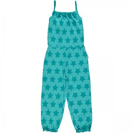 Maxomorra Turquoise Stars Jumpsuit