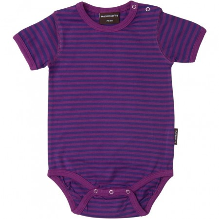Maxomorra Cerise/Purple Stripe SS Body