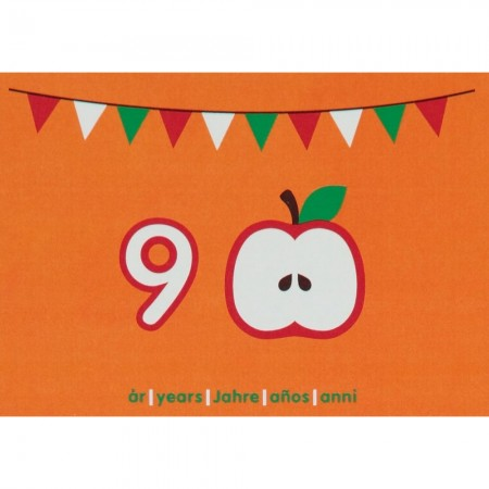 Maxomorra Birthday Card - Apple (9)