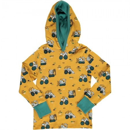 Maxomorra Brick Builders LS Hooded Top