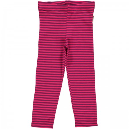 Maxomorra Cerise/Purple Stripe Leggings