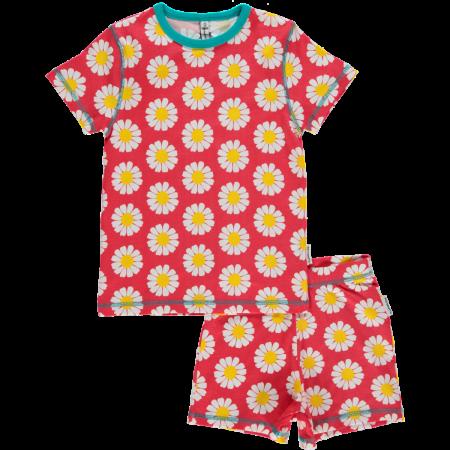 Maxomorra Coral Daisy SS Pyjamas