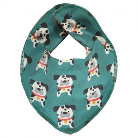 Maxomorra Dalmatian Buddy Velour Dribble Bib
