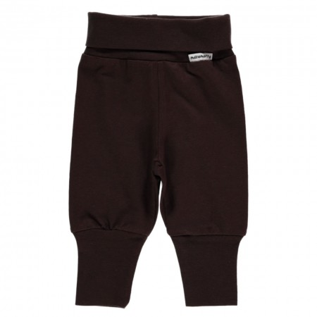 Maxomorra Dark Brown Rib Pants