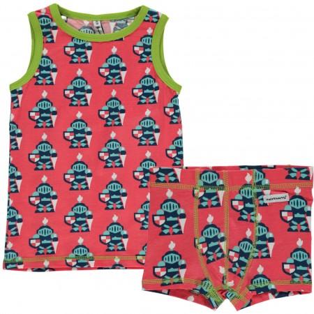 Maxomorra Knight Boxers & Vest Set
