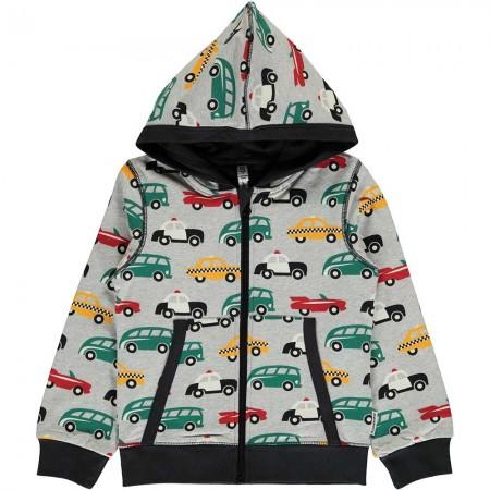 Maxomorra Traffic Hooded Cardigan