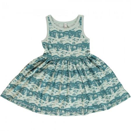 Maxomorra Ocean Landscape Sleeveless Spin Dress