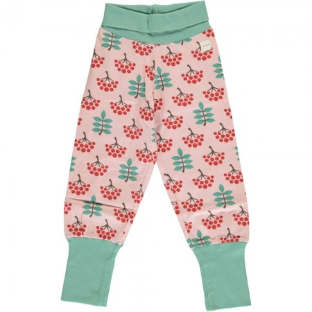 Maxomorra Ruby Rowanberry Rib Pants