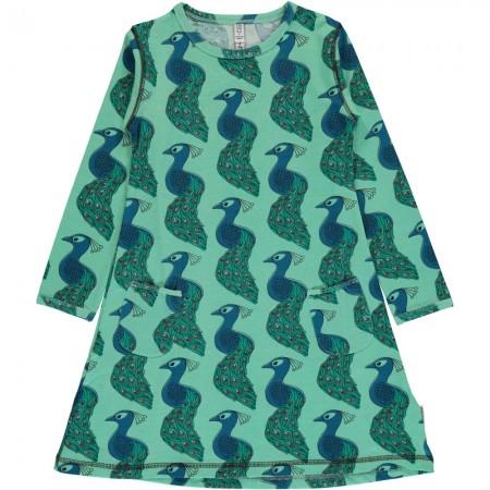 Maxomorra Long Sleeve Peacock Dress