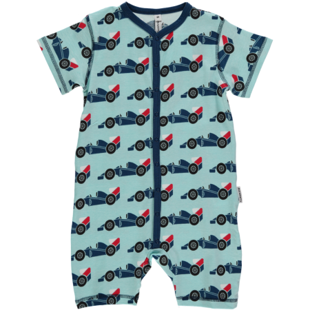 Maxomorra Racer Car Shortie Romper