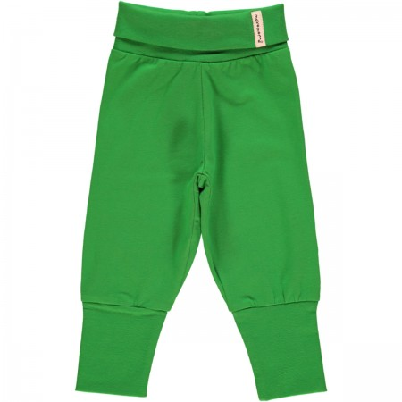 Maxomorra Green Rib Pants