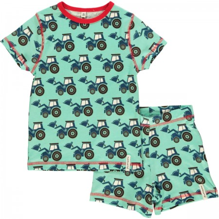 Maxomorra Shortie Tractor Pyjamas
