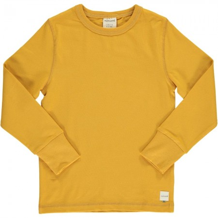 Maxomorra Solid Ochre LS Top