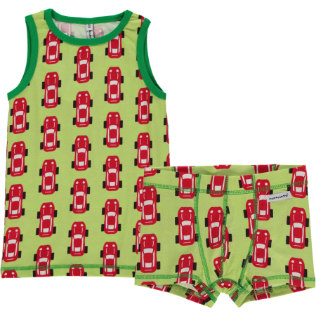 Maxomorra Sports Car Boxers & Vest Set