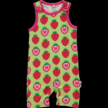 Maxomorra Short Strawberry Dungarees