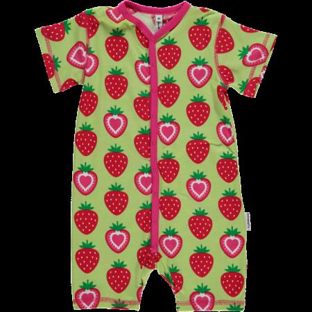 Maxomorra Strawberry Shortie Romper