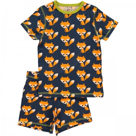 Maxomorra Shortie Fox Pyjamas