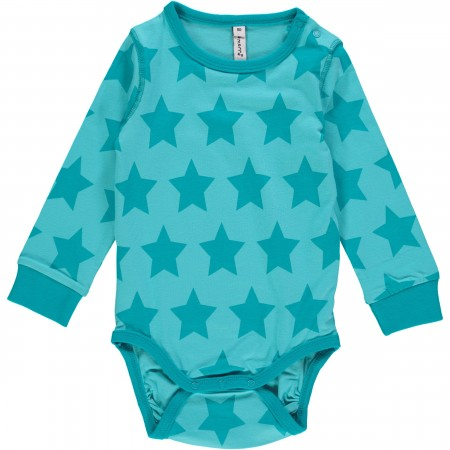 Maxomorra Turquoise Stars LS Body