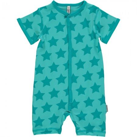 Maxomorra Turquoise Stars Shortie Romper