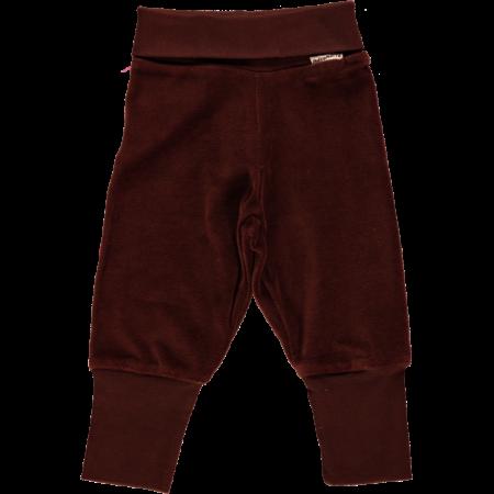 Maxomorra Brown Velour Rib Pants