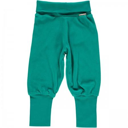 Maxomorra Turquoise Velour Rib Pants