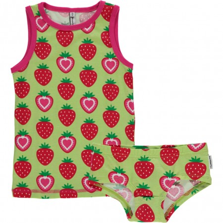 Maxomorra Strawberry Vest and Knickers Set