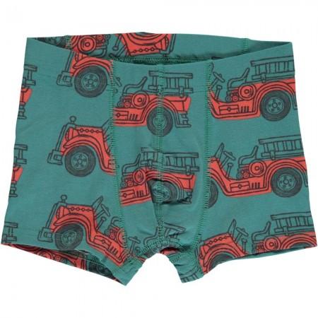 Maxomorra Vintage Fire Truck Boxer Shorts