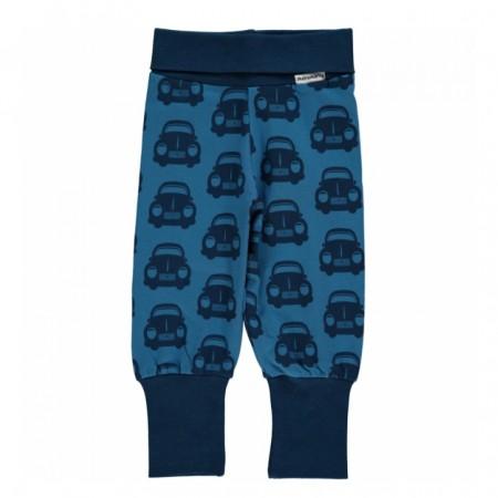 Maxomorra Blue Cars Rib Pants