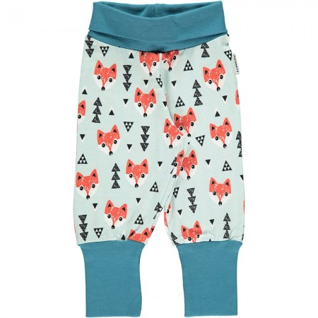 Maxomorra Blue Fox Rib Pants