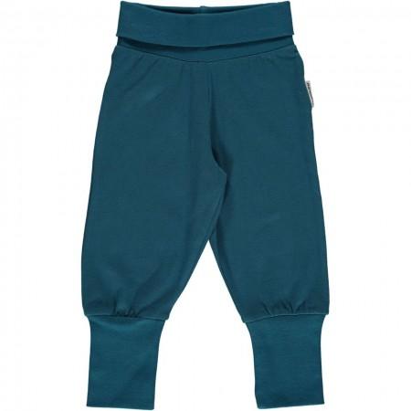Maxomorra Blue Rib Pants