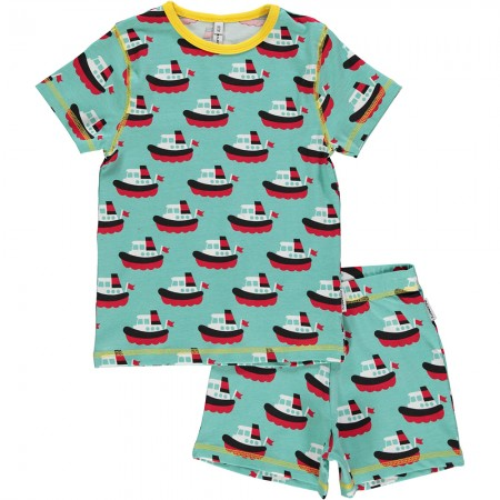 Maxomorra Boat Shortie Pyjamas