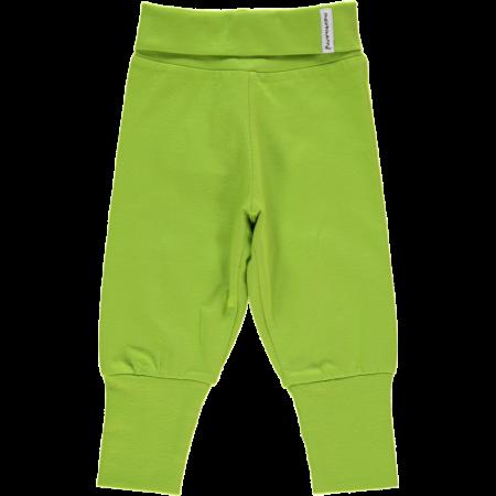 Maxomorra Bright Green Rib Pants