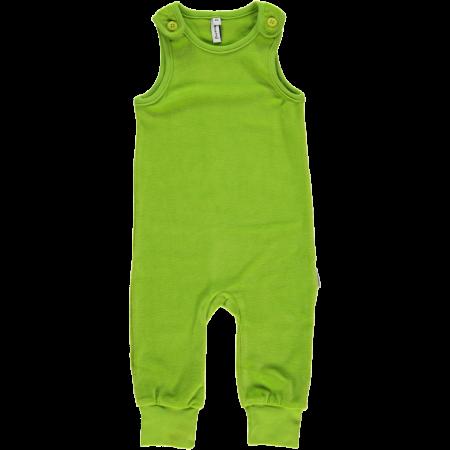 Maxomorra Bright Green Velour Dungarees