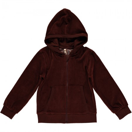Maxomorra Brown Velour Zip Hoody