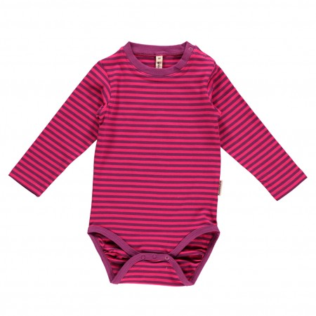 Maxomorra Cerise & Purple LS Body