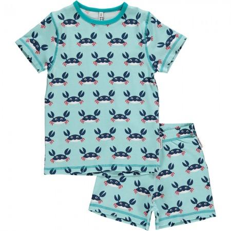 Maxomorra Crab Shortie Pyjamas