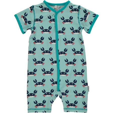 Maxomorra Crab Shortie Romper