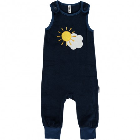 Maxomorra Embroidered Sky Dungarees