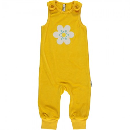 Maxomorra Flower Embroidered Dungarees